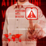 Virus alert Royalty Free Stock Photography
