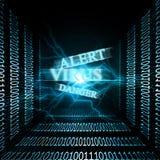 Virus alert Stock Photo