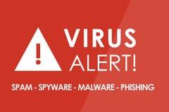 Virus Alert Stock Image