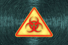 Virus alert sign. Computer security Stock Photography