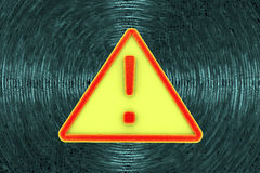 Virus alert sign. Computer security Royalty Free Stock Photo