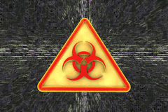 Virus alert sign. Computer security Royalty Free Stock Images