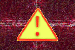 Virus alert sign. Computer security Stock Photo