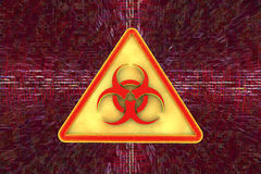 Virus alert sign. Computer security Royalty Free Stock Photography