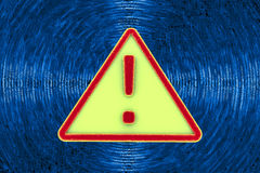 Virus alert sign. Computer security Stock Images
