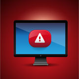 Virus Alert Sign in Internet Browser Stock Photography
