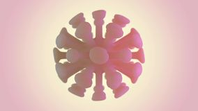 Virus animato nel corpo nella macro scala su fondo 3d illustrazione vettoriale