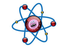 Virus in an Atomic Cell Structure Illustration Royalty Free Stock Image