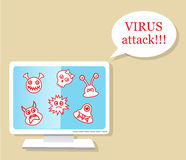 Virus attack Stock Images
