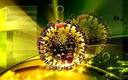 Virus aviar ilustración del vector