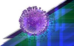 Virus aviario Immagine Stock