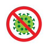 Virus or bacteria icon. Vector illustration on isolated on white background Stock Image