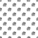 Virus bacteria pattern seamless vector stock illustration