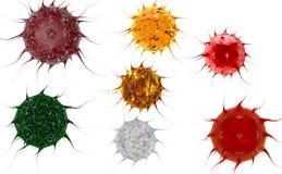 Virus. Bacteria.Viruses in infected organism , viral disease epidemic. 3d render Royalty Free Stock Image