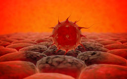 Virus. Bacteria.Viruses in infected organism , viral disease epidemic. 3d render Stock Photography