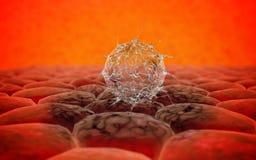 Virus. Bacteria.Viruses in infected organism , viral disease epidemic. 3d render Royalty Free Stock Photography