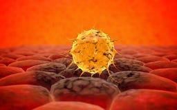 Virus. Bacteria.Viruses in infected organism , viral disease epidemic. 3d render Stock Images