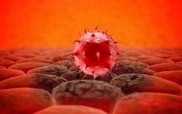 Virus. Bacteria.Viruses in infected organism , viral disease epidemic. 3d render Stock Photos