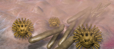 Virus and bacterium Stock Images