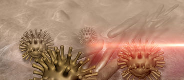 Virus and bacterium Royalty Free Stock Images