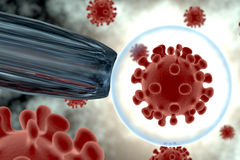 Virus, batteri, cellula Fotografie Stock Libere da Diritti