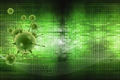 The virus. Beautiful background with the virus vector illustration