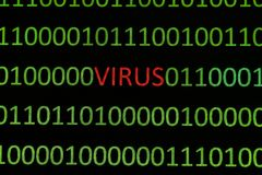 Virus on binary data Royalty Free Stock Image
