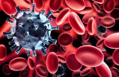 Virus in blood Royalty Free Stock Photos