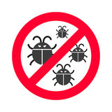 Virus bugs vector illustration Royalty Free Stock Photos