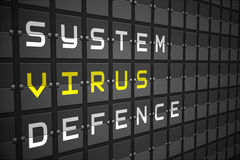 Virus buzzwords on black mechanical board Royalty Free Stock Photos
