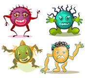 Virus cartoon. Illustration of virus or worm in computer Royalty Free Stock Images