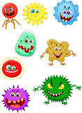 Virus cartoon collection set Royalty Free Stock Photos