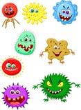 Virus cartoon collection set Royalty Free Stock Photos