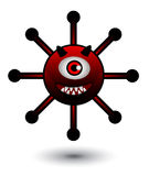 Virus Cartoon Illustration Stock Photos