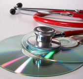 Virus on cd? Royalty Free Stock Photo