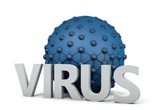 Virus che intraprende la cellula Fotografie Stock