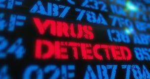 Virus cibernético del ataque detectado Imagen de archivo