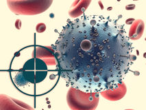Virus closeup and target Stock Image