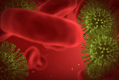 Virus closeup under microscope Stock Photography