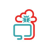 Virus and cloud icon vector illustration. Royalty Free Stock Photos