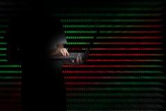 Virus in computer code on black background. Virus in computer code on black background stock photo