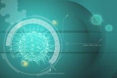 Virus 3d beeld Stock Afbeeldingen