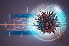 Virus 3d image Royalty Free Stock Photos