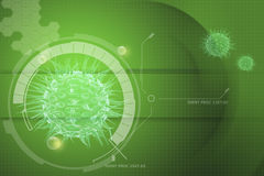 Virus 3d image Royalty Free Stock Image