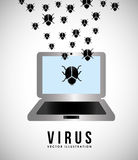 Virus d'ordinateur illustration de vecteur