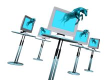 Virus d'ordinateur de cheval de Trogan Image libre de droits