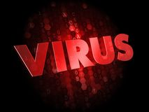 Virus on Dark Digital Background. Stock Photo