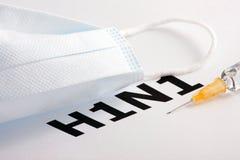 Virus de gripe H1N1 Imágenes de archivo libres de regalías