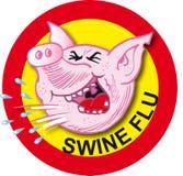 Virus de grippe de porcs Photos libres de droits