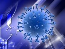 VIRUS de herpes stock de ilustración